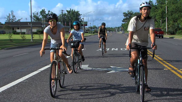 Student bikes to raise climate change awareness