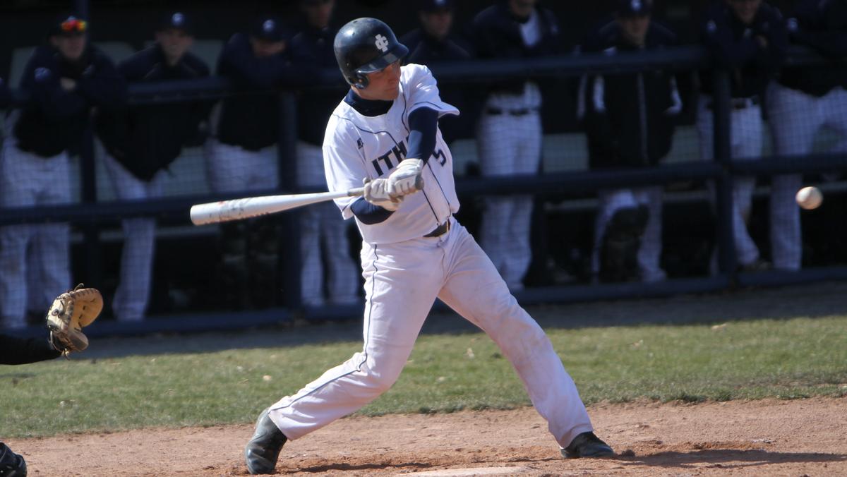 Baseball splits double header against Stevens